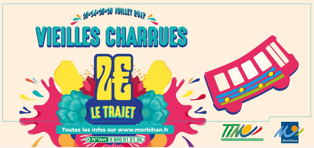 Les Vieilles Charrues 2017 en car sur le réseau TIM