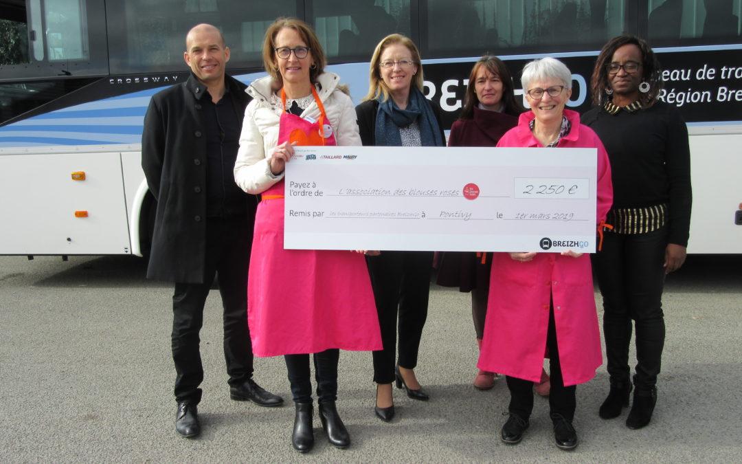 Remise de chèque des partenaires du réseau BREIZHGO à l'association les Blouses Roses