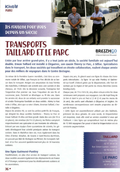 LES TRANSPORTS TAILLARD ONT 100 ANS