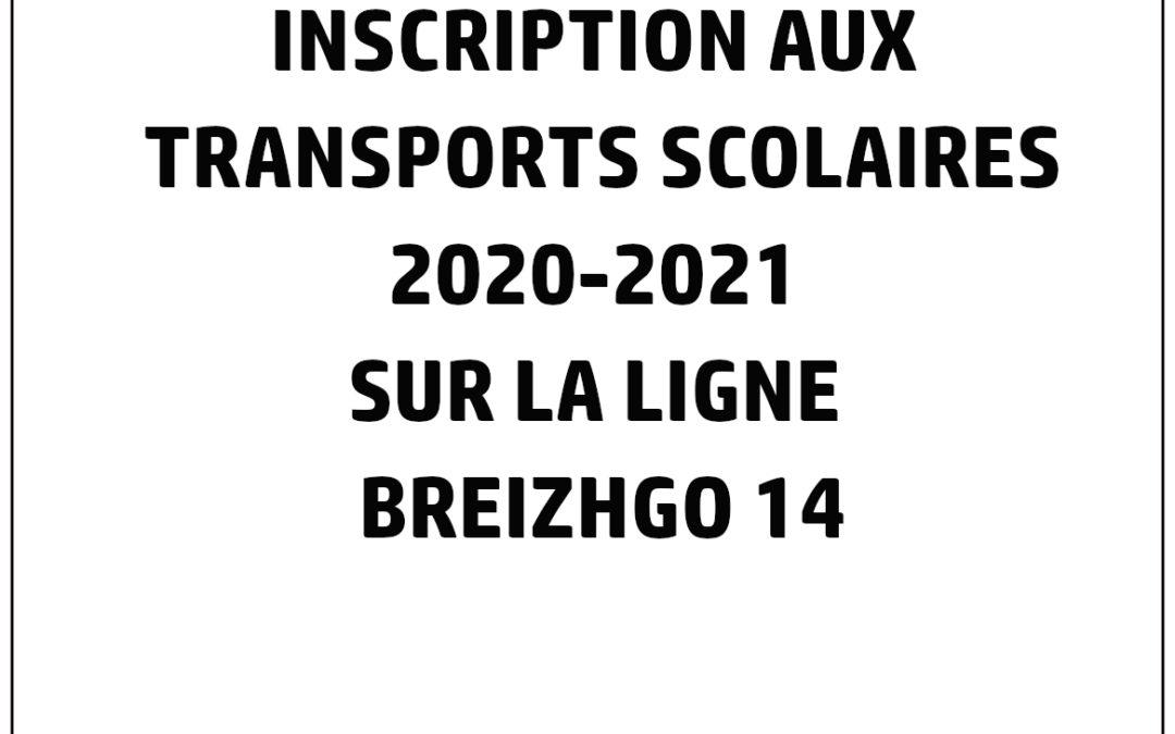 Les inscriptions aux transports scolaires sur la ligne BreizhGo 14