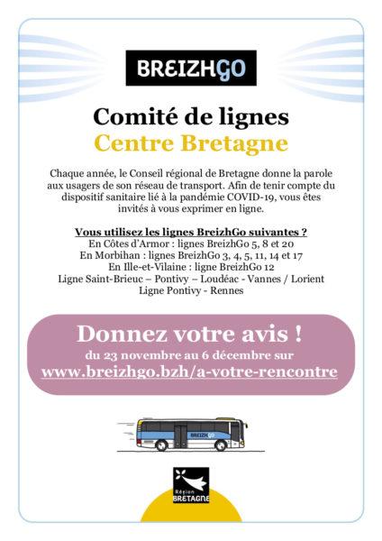 Donner votre avis sur les lignes BreizhGo du 23 novembre au 6 décembre 2020